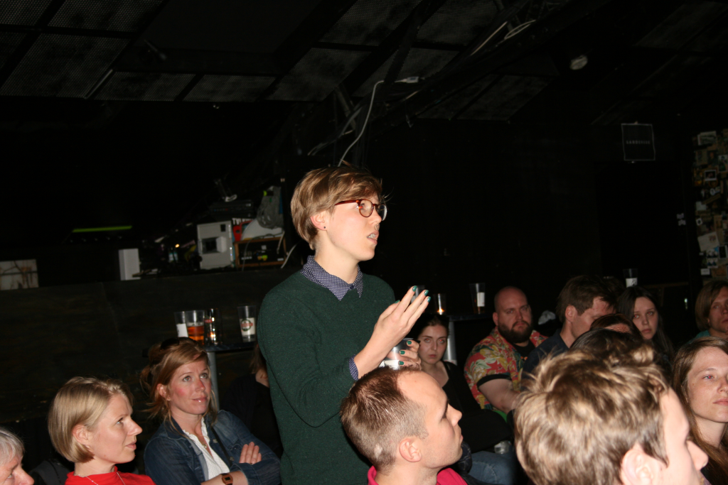 Comment from the audience. Photo: Marita Løkås